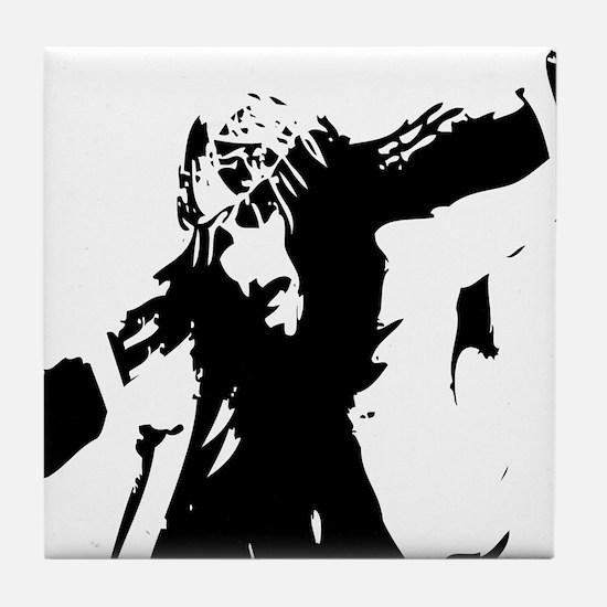 Jesus Caring Cross Tile Coaster