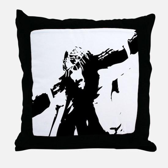 Jesus Caring Cross Throw Pillow
