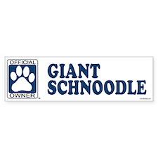 GIANT SCHNOODLE Bumper Bumper Sticker