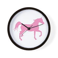 Pink Arabian Horse Wall Clock