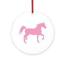 Pink Arabian Horse Ornament (Round)
