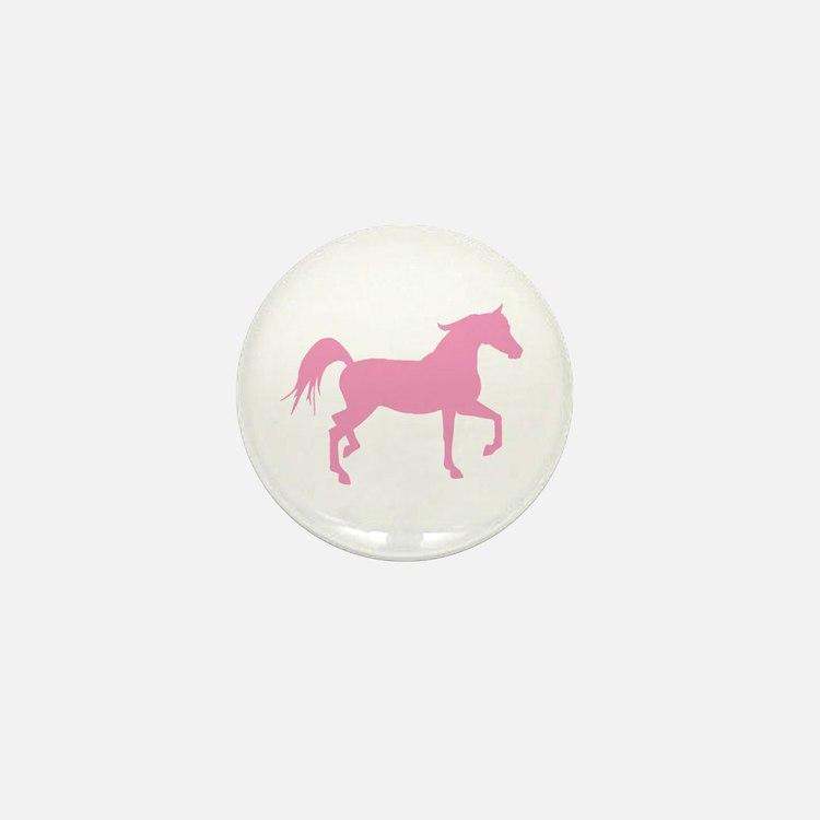 Pink Arabian Horse Mini Button