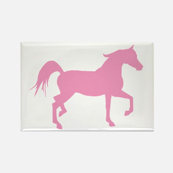 Pink Arabian Horse Rectangle Magnet