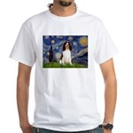 Starry Night / Eng Spring White T-Shirt