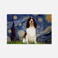 Starry Night / Eng Spring Rectangle Magnet