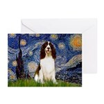 Starry Night / Eng Spring Greeting Cards (Pk of 20