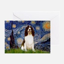 Starry Night / Eng Spring Greeting Cards (Pk of 10