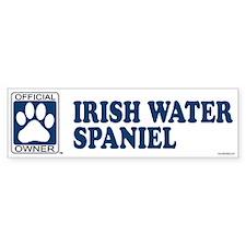 IRISH WATER SPANIEL Bumper Bumper Sticker