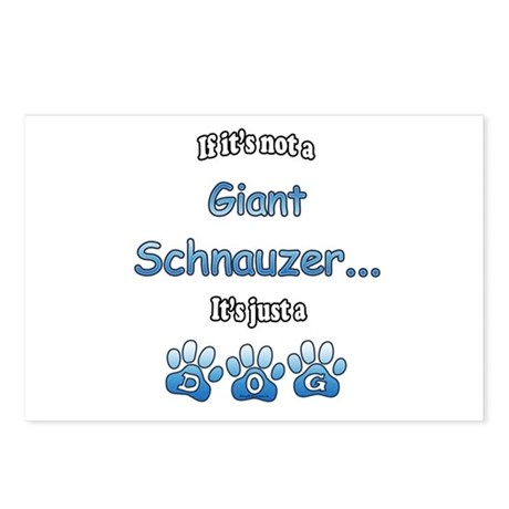 Schnauzer Not Postcards (Package of 8)