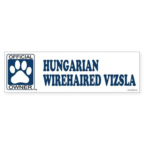 HUNGARIAN WIREHAIRED VIZSLA Bumper Sticker