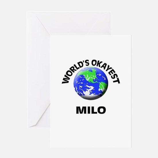 World's Okayest Milo Greeting Cards