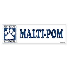 MALTI-POM Bumper Bumper Sticker