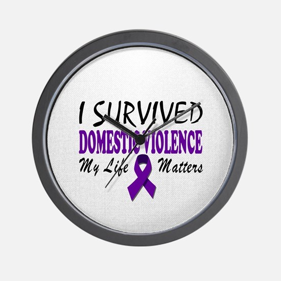 I Survived Domestic Violence Wall Clock
