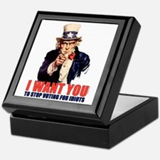 Stop Voting For Idiots Keepsake Box