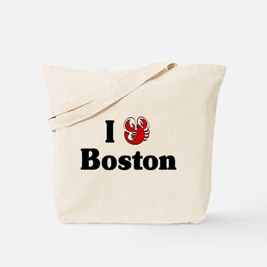 I Love Boston Tote Bag