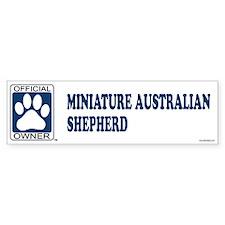 MINIATURE AUSTRALIAN SHEPHERD Bumper Bumper Bumper Sticker