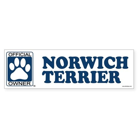 NORWICH TERRIER Bumper Sticker
