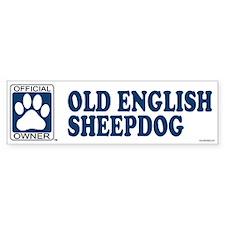 OLD ENGLISH SHEEPDOG Bumper Bumper Sticker