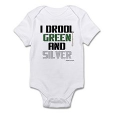 GREEN AND SILVER (Phil) Infant Bodysuit