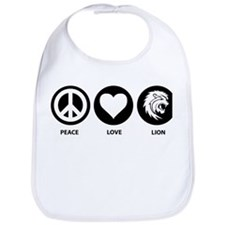 Peace Love Lion Bib