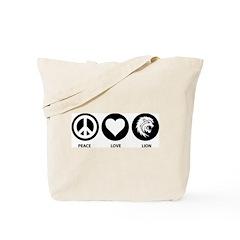 Peace Love Lion Tote Bag