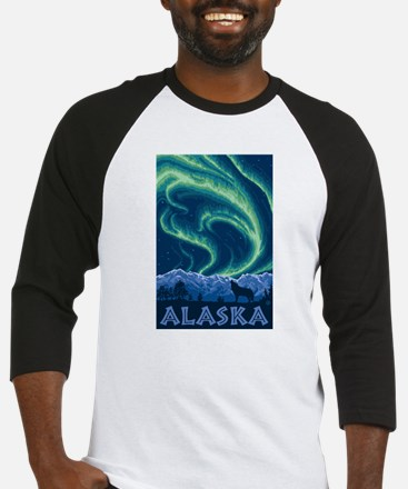 Alaska - Northern Lights Baseball Jersey
