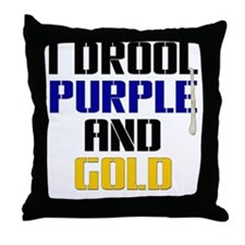 PURPLE AND GOLD (Bal) Throw Pillow