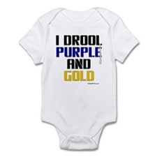 PURPLE AND GOLD (Bal) Infant Bodysuit