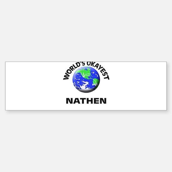 World's Okayest Nathen Bumper Car Car Sticker
