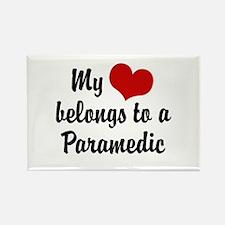 My Heart Belongs to a Paramedic Rectangle Magnet