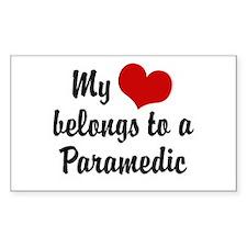 My Heart Belongs to a Paramedic Sticker (Rectangul