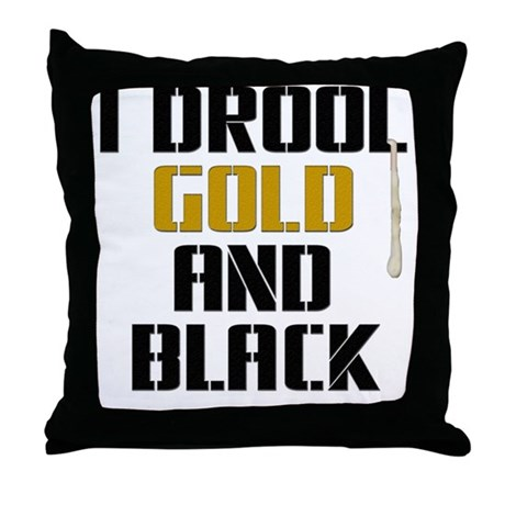 GOLD AND BLACK (NO) Throw Pillow