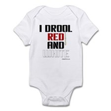 RED AND WHITE (KC) Onesie