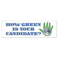 Vote Green Bumper Bumper Sticker