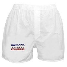 BRYANNA for congress Boxer Shorts