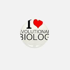 I Love Evolutionary Biology Mini Button