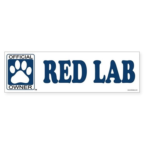 RED LAB Bumper Sticker