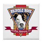 Brindle Bock Tile Coaster