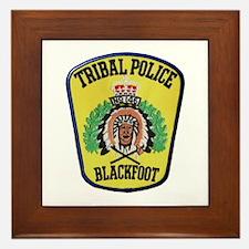 Tribal Police Blackfoot Framed Tile