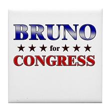 BRUNO for congress Tile Coaster