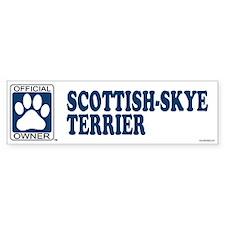 SCOTTISH-SKYE TERRIER Bumper Bumper Sticker
