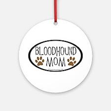 Bloodhound Mom Ornament (Round)