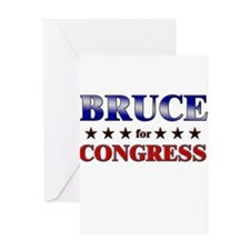 BRUCE for congress Greeting Card