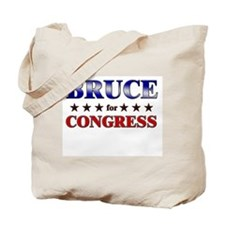 BRUCE for congress Tote Bag