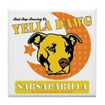 Yella Dawg Sarsaparilla Tile Coaster