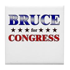 BRUCE for congress Tile Coaster