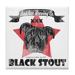 Black Stout Vintage Tile Coaster