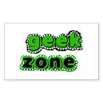 Geek Zone Rectangle Sticker