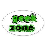 Geek Zone Oval Sticker