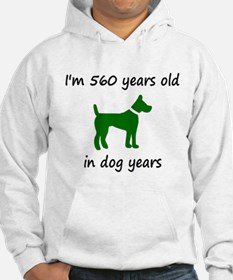 80 Dog Years Green Dog 1 Hoodie